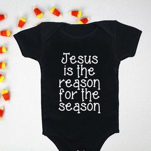 Black Summer Lovely Baby Unisex Letter Printed Short Sleeve Romper Jumpsuit