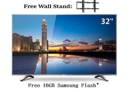 HI-TECH - Smart 32 Inches Slim Full HD LED Tv - 1920x1080 - Free 16GB USB - Free Wall stand - Black
