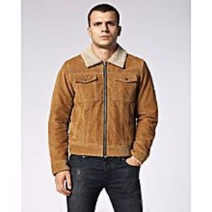 TASHCO Clothing Brown Suede Leather Jacket High Quality