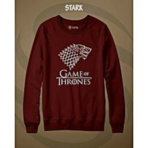 TJ FASHION Maroon STARK Printed Sweatshirt Shirt For Men