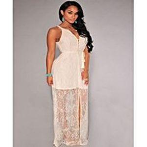 Lovers DressGorgeous Lace Slit Maxi Dress