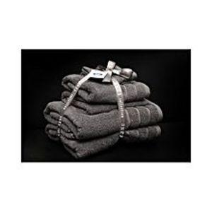 AKTIAlkaram Towel 6 - Piece Towel Set Grey