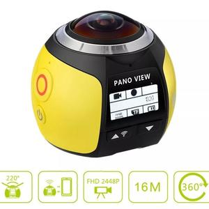 Andoer V1 360 Panorama Camera Wifi 2448P 16M Mini Sports Action VR Camera Fisheye Film Source Camcorder Car DVR