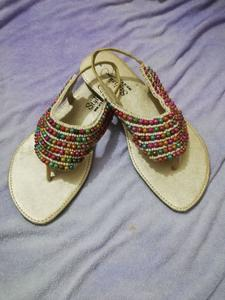 Imported color ball slipper