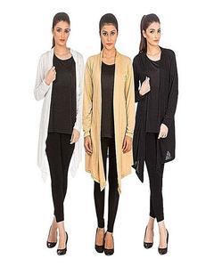 Pack Of 3 - Multicolor Shrugs For Women