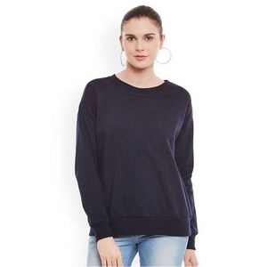 Black Fleece Sweat Shirt For Women