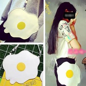 Fashion lady bags women lovely fried egg shape shoulder bags