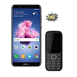 "Huawei P SMART - 5.7"" - IPS LCD  - 3GB Ram + 32GB ROM - 4G - Blue + FREE MOBO M3 FEATURE PHONE"