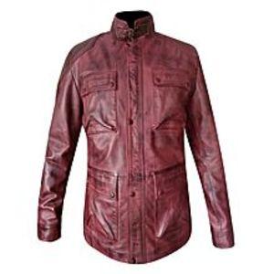 TASHCO ClothingRed Leather Jacket For Men