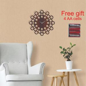 1 x Bundle of Wooden cut wall clock with laser cut Antique look. Plus 4 x AA CELLS AS FREE GIFT WITH CLOCK