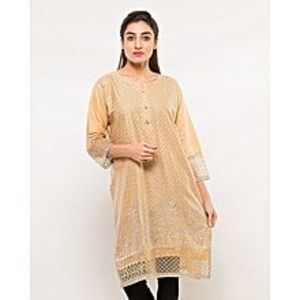 FISH Skin Embroidered Kurta
