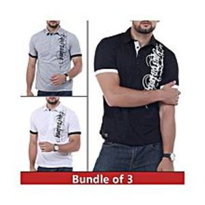 super bazar Pack of 3 Printed T-Shirt's