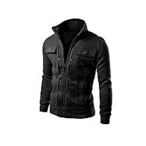 Fashion MartBlack Button Style Black Fleece Jacket For Men
