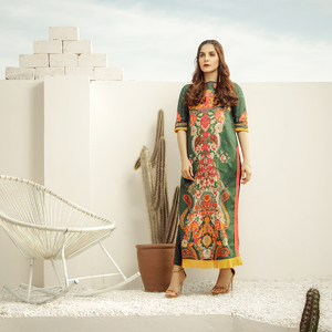 Alkaram studio Spring Summer Collection 2020 Vol I Green Lawn 2 Piece Suit For Women -A132225659