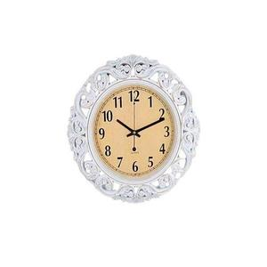 "Antique Gold Shaded Wall Clock - 17X17"" - White"