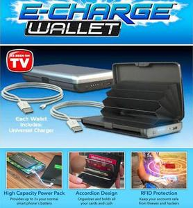 E Charging Cash & Cards Wallet Power Bank