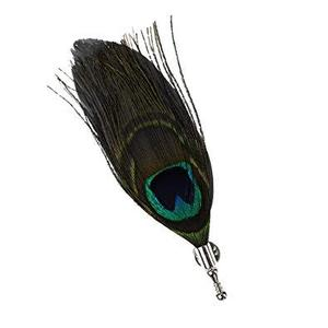 Peacock Feathers Brooch For Men