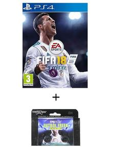 Pack of 2 - FIFA 18 DVD PS4 Game & Kontrol Freeks