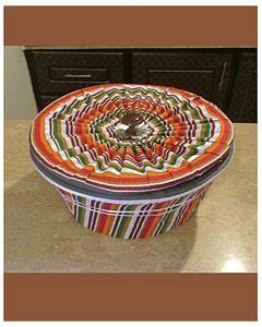 Hot Pot Roti Basket – Multicolor – 3 Pcs