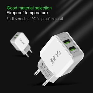 OLAF Dual USB Travel Wall Charger 5V 2.5A Fast Charging Adapter EU Plug