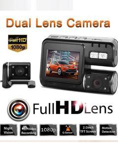 "2.0"" Autos Dash Cam HD DVR Video Recorder Dual Camera Camcorder 330° Rotatable"