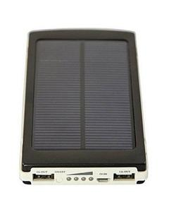 20000 mAH Solar Power Bank with 20 LED Light and long Backup -Black