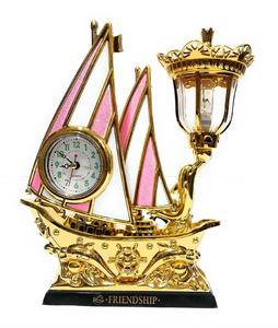 Ship Table Lamp with Alarm Clock