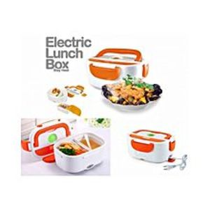 big basketElectric Lunch Box - Orange & White