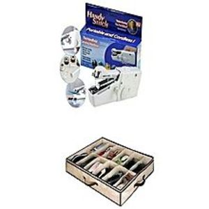 As seen on tv Pack Of 2 - 12 Shoes Organizer & Handy Sewing Machine