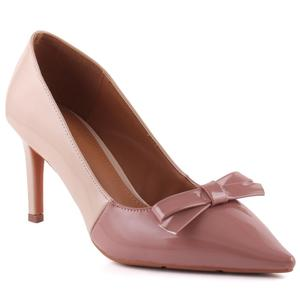 """Women """"Daphne"""" Dual Color Bow Decorated Pointy Toe Stiletto Court Shoes  L31783"""