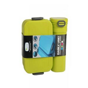 Pack of 2 - Water Bottle & Lunch Box - Green
