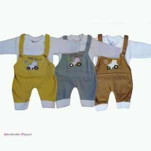 Pack of 3 New Born Baby Winter Warmth Jump Suits