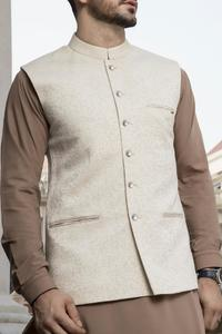 Almirah Summer Spring Collection Vol.01 2019 CREAM POLYESTER VISCOSE Men's Waistcoat