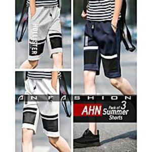 AN FashionPack Of 3 - Ahn Summer Shorts For Men