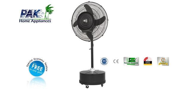 Pak Fan Mist Fan Pedestal - Copper Winding - Heavy Duty Motor - 24″