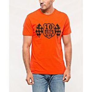 DenizenOrange Cotton T-Shirt For Men