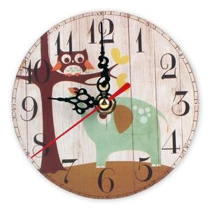 AU Vintage Rustic Large Wooden Wall Clock Shabby Chic Antique Home Office Decor