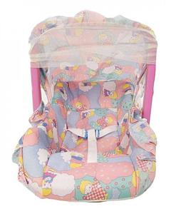 Super Baby Carry Cot With Net - Pink