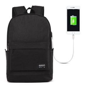 Universal Multi-Function Oxford Cloth Laptop Shoulders Bag Backpack with External USB Charging Port, Size: 45x31x16cm, For 15.6 inch and Below Macbook, Samsung, Lenovo, Sony, DELL Alienware, CHUWI, ASUS, HP(Black)