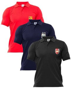 AR Center Pack of 3 - Multicolor Cotton Polo Shirts for Men - ARA-3Polo-FBRNBl