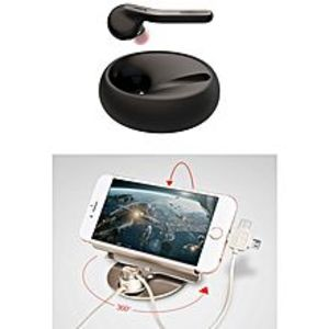 JabraPack Of 2 :  Eclipse Bluetooth Headset & Letto Mobile Car Holder