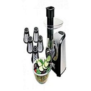 Anex AG-395 - Deluxe Vegetable Slicer & Salad Cutter - 150 Watts - Black & Silver