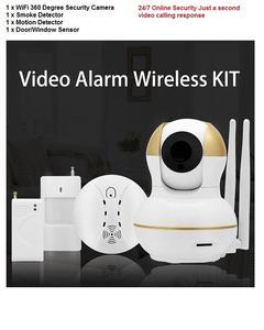 Wifi Cctv Emergency Security Kit With Motion Detection & Fire Alarm Smoke Detector Window Sensor