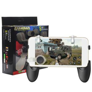 New 5 in 1 PUBG Moible Controller Gamepad Free Fire L1 R1 Triggers PUGB Mobile Game Pad Grip L1R1 Joystick for iPhone Android
