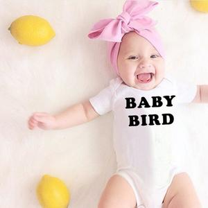 UR Baby Unisex Letter Print Short Sleeve Bodysuit Romper Jumpsuit Casual Daily