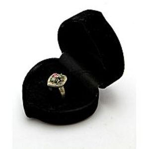 Gilgit BazarEmerald Sapphire and Ruby Stone Silver Ring GB(5)4401