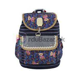 Teddy Bear Blue Style Bag - 5 Pockets Women, Ladies & Girls Backpack