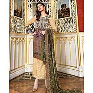 Asim JofaMulticolor Embroidered Unstitched Luxury Lawn 3Pcs Suit for Women