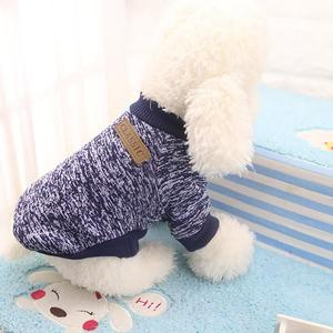 2019 New Pet Dog Puppy Classic Sweater Fleece Sweater Clothes Warm Sweater Winter