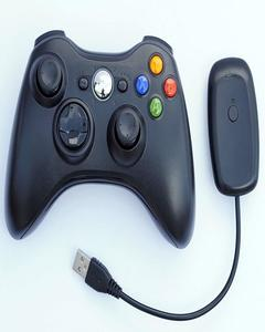 Wireless Game Pad 100% Original Controller for Use With Microsoft Xbox 360 and PC With Receiver (Black)